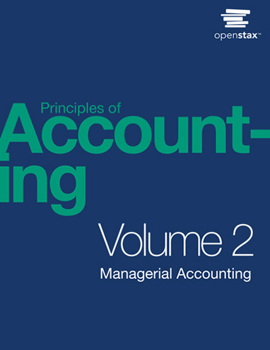 Principles of Accounting Volume 2 - Managerial Accounting