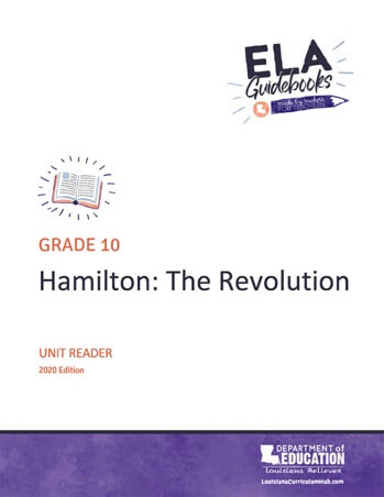 Louisiana Schools ELA Guidebook Hamilton cover