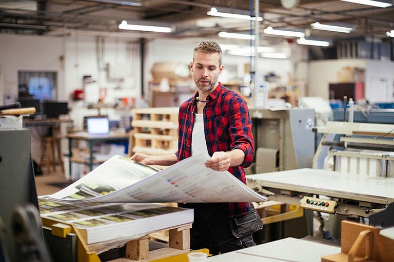 Printer preparing custom materials